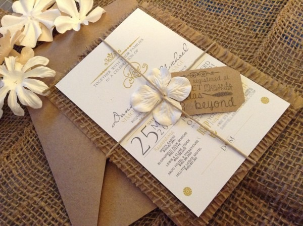 30 Burlap Wedding Invitations Ideas
