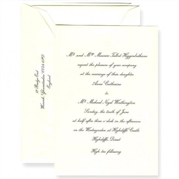 Crane Wedding Invitations