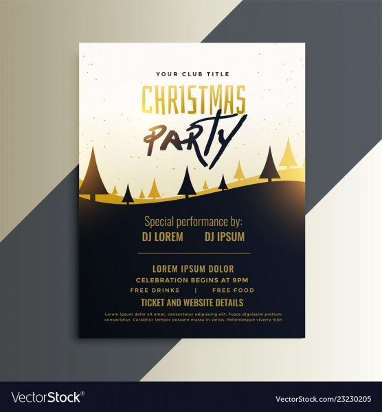 Creative Christmas Party Invitation Flyer Design Vector Image
