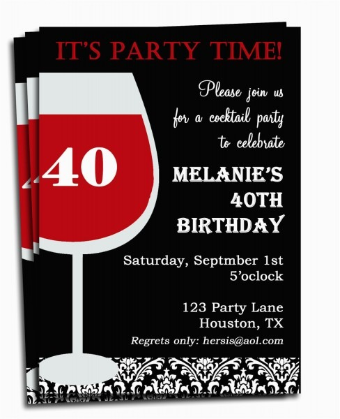Custom Birthday Invitations For Adults