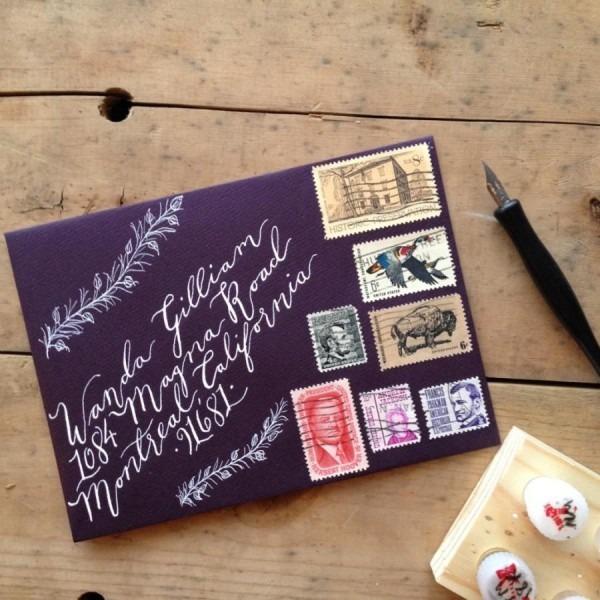 Custom Calligraphy Envelope Addressing, Handwritten, Wedding