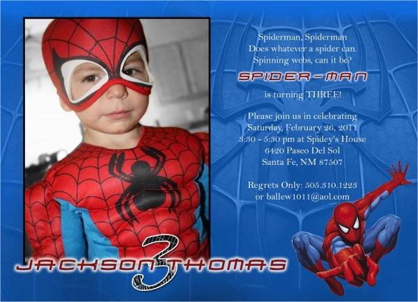 Custom Spiderman Birthday Invitations Free Personalized Spiderman