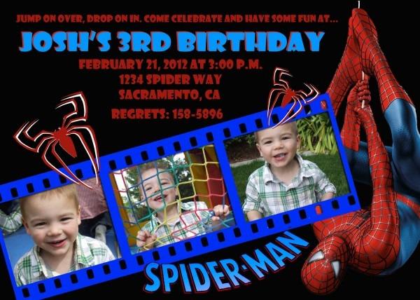 Customized Spiderman Birthday Invitations Vintage Free