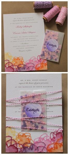 Diy Diva Invitations – Glitter, Confetti, And Watercolor Goodness