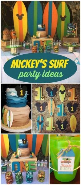 Mickey's Surf Theme   Birthday  Sebastian's Surf Shack