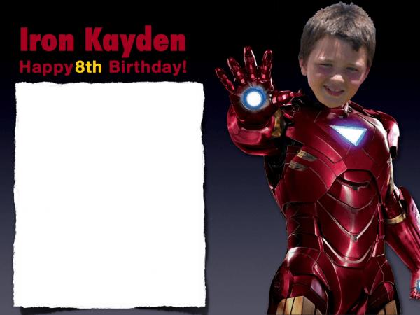 Ironman Kayden Birthday Invitation