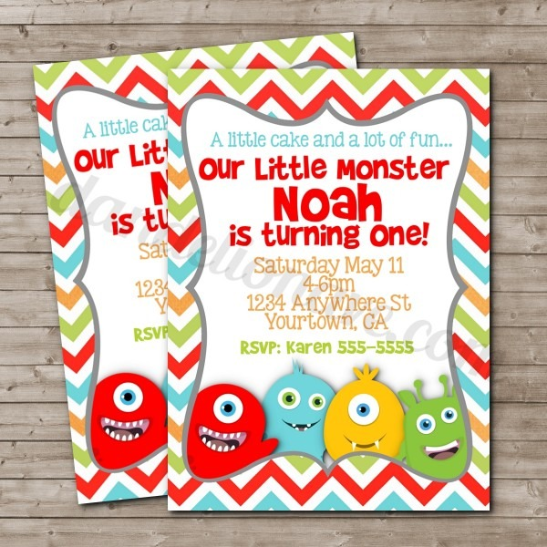 Monsters Inc Birthday Invitations Is A Combination Of Paper