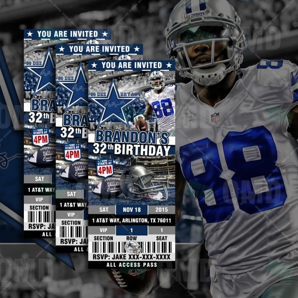 Dallas Cowboys Football Ultimate Party Package – Sports Invites