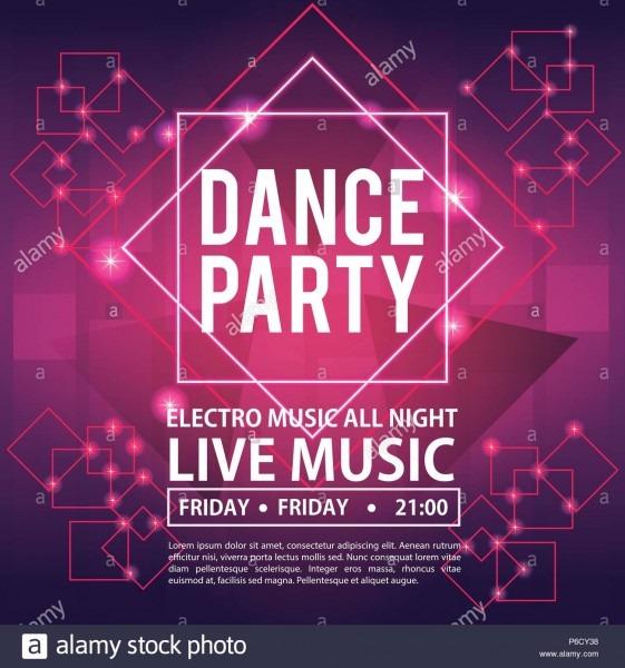 Dance Party Invitation Card Vector Illustration Graphic Design