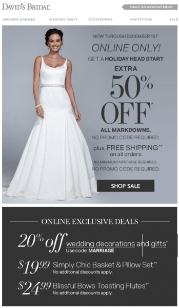 97+ 85 Off Davids Bridal Coupons Promo Codes Free Shipping For