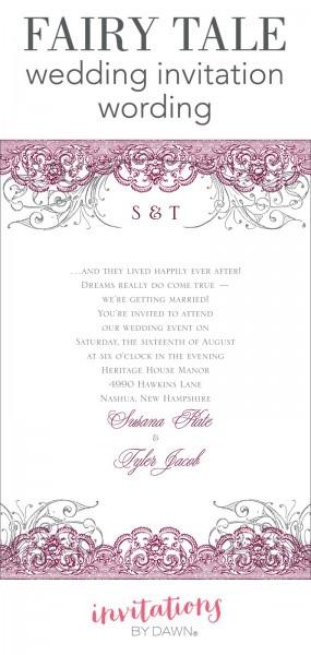 Dawn A Fairy Tale Wedding Invitation Wording Invitations Templates