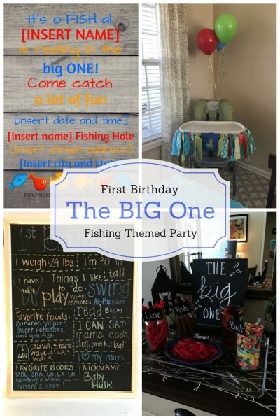 Celebrating The Big  One   A Fishing Themed First Birthday Party