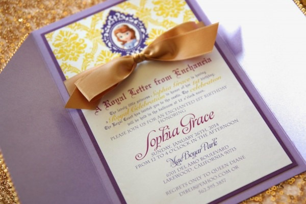 Sofia The First Invitations Etsy