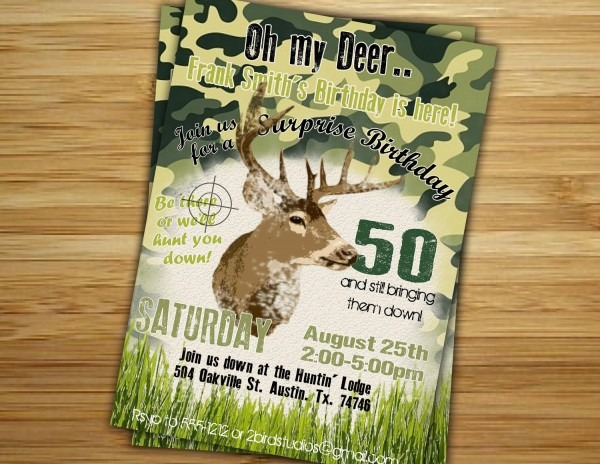 Deer Hunting Birthday Invitations Nice Deer Hunting Birthday Party