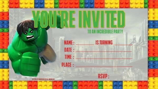 Hulk Free Printables Lovely Hulk Birthday Invitation Template
