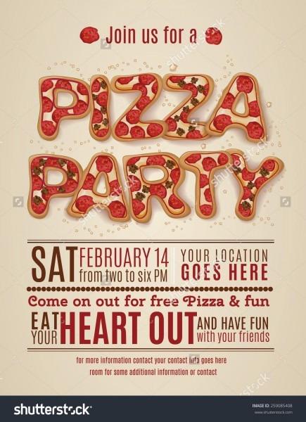 Decefdcaeddef Simple Pizza Party Invite
