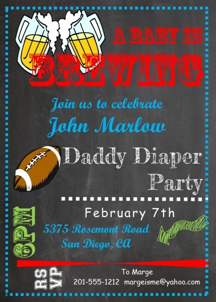 Party Invitation Template Diaper Party Invitations Free Birthday