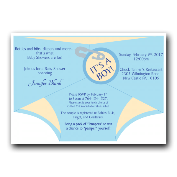 Diaper Shower Invitation