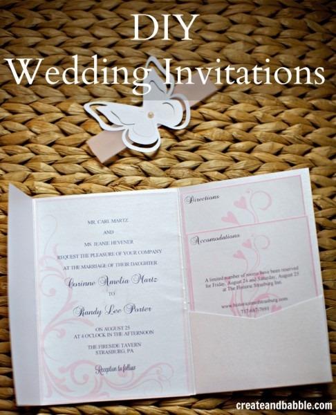 Diy Wedding Invitations {silhouette Tutorial}