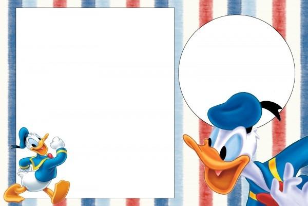 Donald Duck Invitation