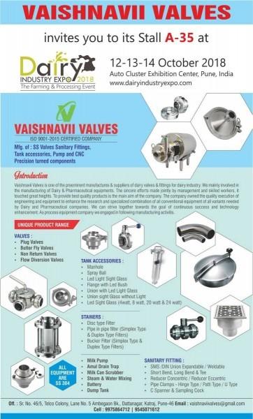 Dairyindustryexpo On Twitter   Vaishnavii Valves Will Showcase