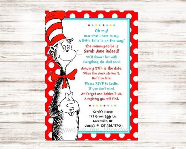 Dr  Seuss Baby Shower Ideas, Party Food, Decorations, And More!