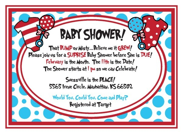 Dr Seuss Baby Shower Invitations And Get Inspiration To Create The