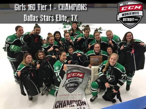 Girl Power! Dallas Stars Elite U16 Girls Win Ccm World Invite