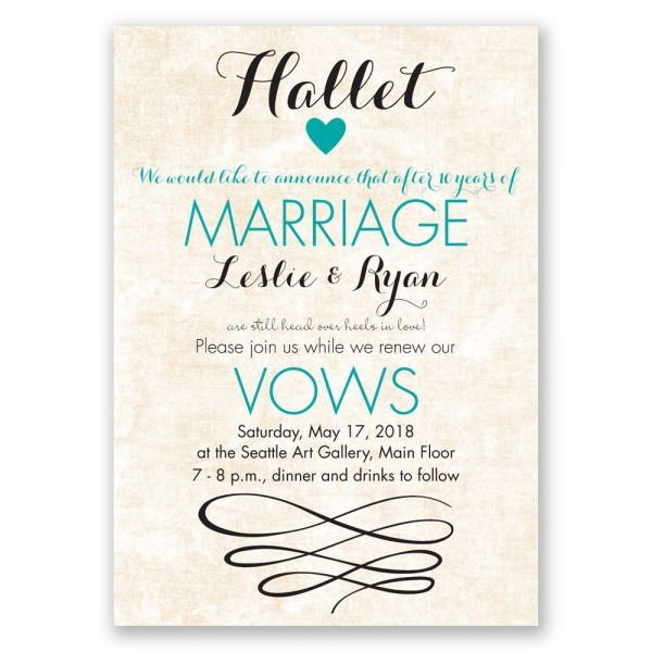 Happy Heart Vow Renewal Invitation
