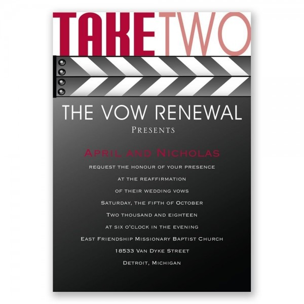 Take Two Vow Renewal Invitation