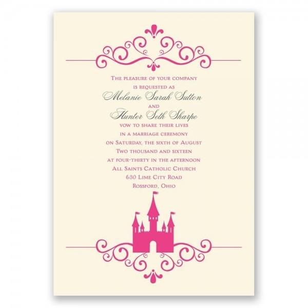 Fairytale Wedding Invitation Wording