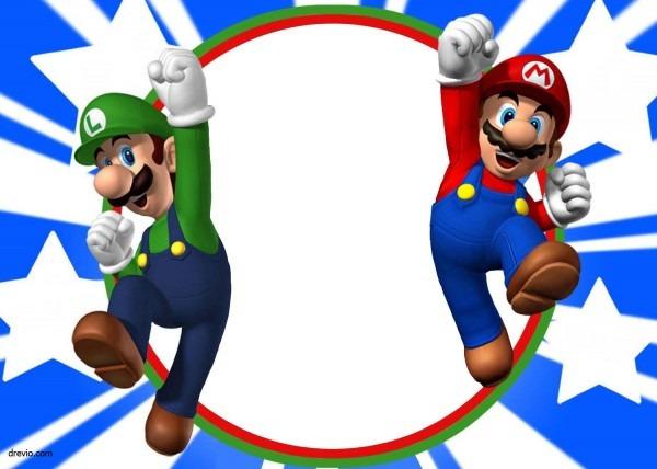 Free Printable Super Mario Bros Invitation