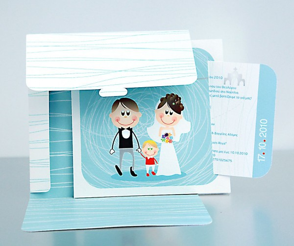 Wedding + Christening Invitation