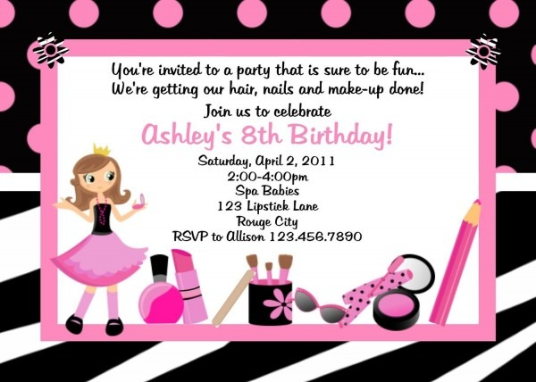 Lexi's 6th Bday Party! Diva Spa Birthday Invitation Diva Spa