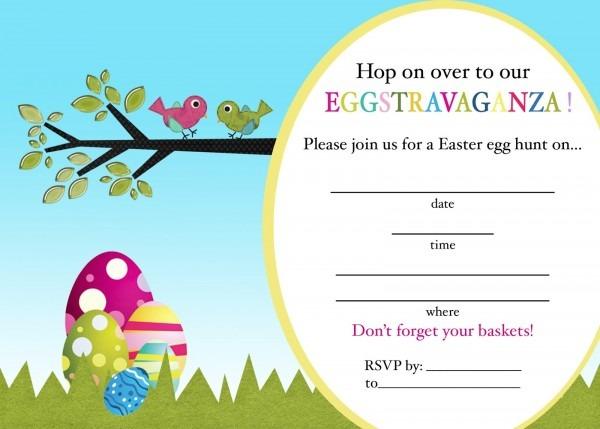 Easter Egg Hunt Invitation Clip Art Stock