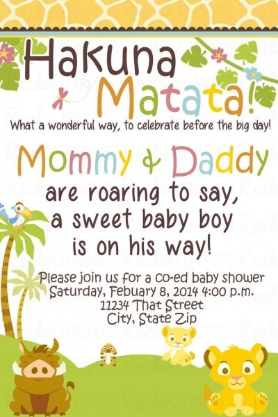 Awesome How To Select The Lion King Baby Shower Invitations