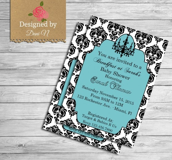 New To Designedbydanin On Etsy  Tiffany Baby Shower Invitation