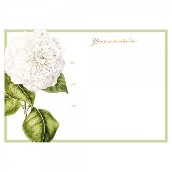 Camellia Garden Invitations In Ivory
