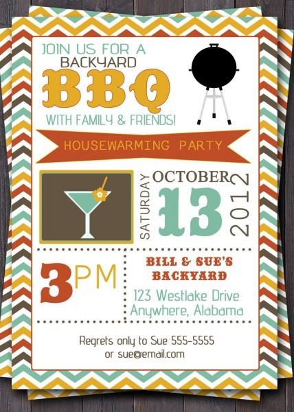 Elegant Bbq Party Invitation Template