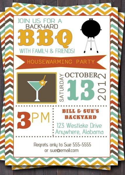 Elegant Bbq Party Invitation Template