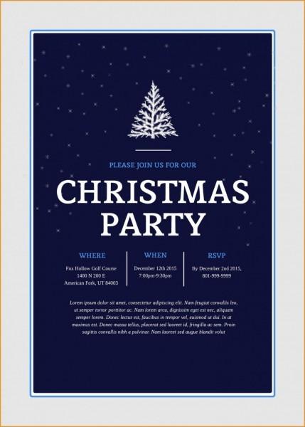Party Invitations  Astonishing Holiday Party Invitation Template
