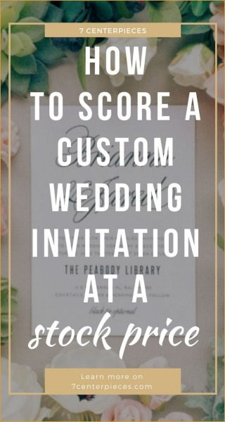 New Elegant Personalized Wedding Invitation Keepsake