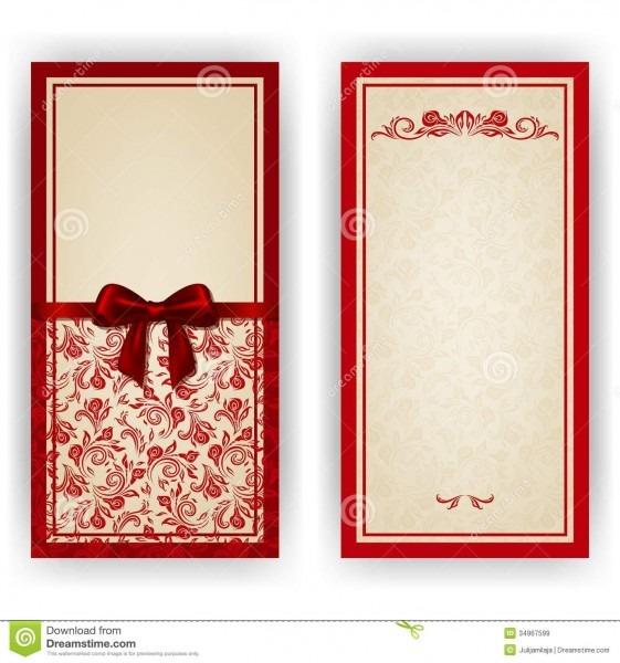 Elegant Vector Template For Luxury Invitation, Stock Vector