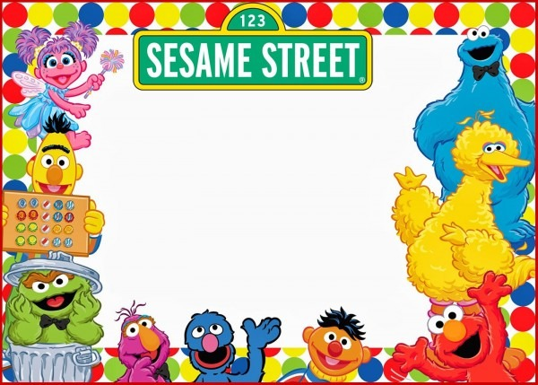 Aefcfecedcbd Fancy Sesame Street Invitation Template