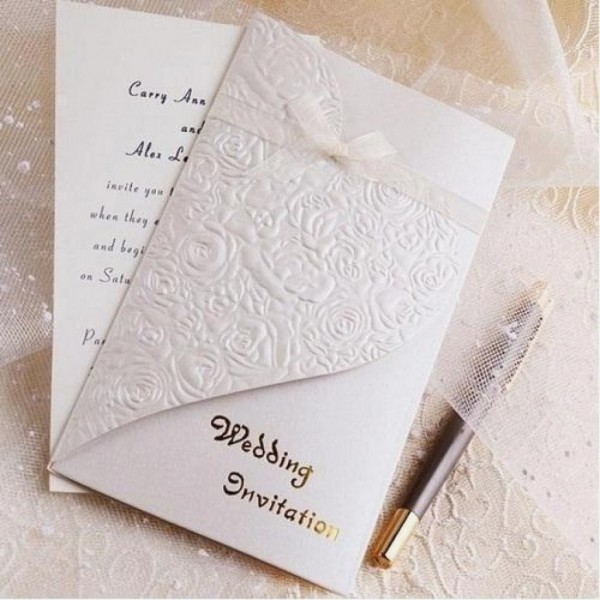 Embossed Wedding Invitations Luxury Embossed Wedding Cards