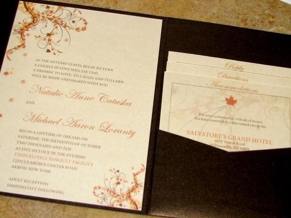 Invitations   Enchanting Amazing Colors For Fall Wedding