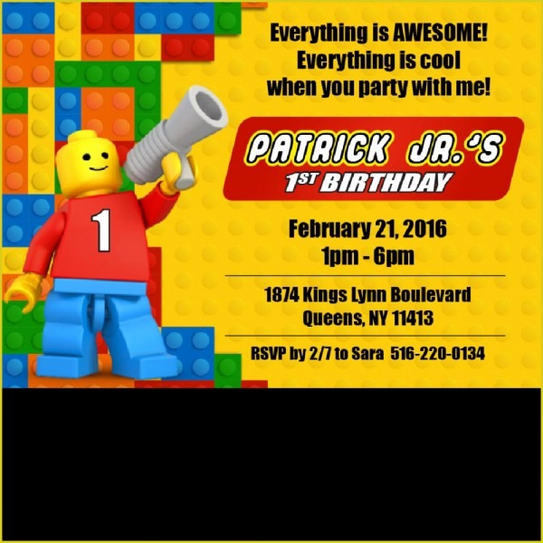 Enchanting Lego Birthday Invitation Which You Need To Make Free