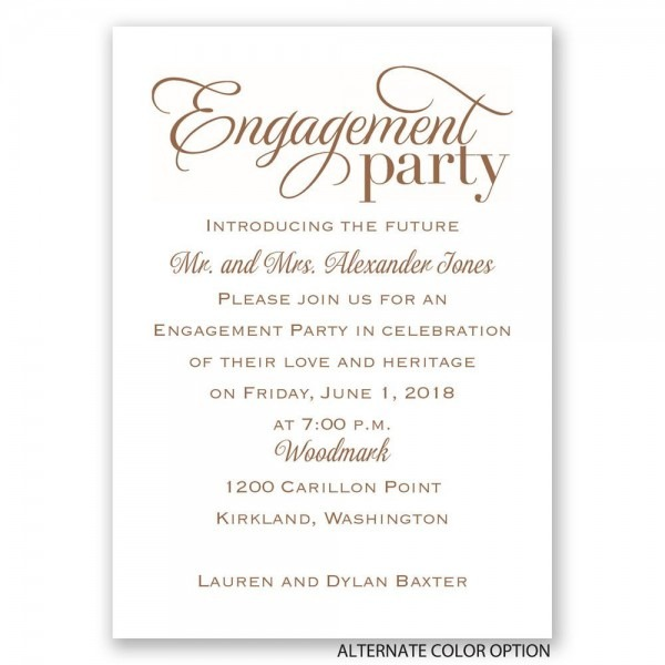 Engagement Party Invitation For Well Solutions In Of Surprising