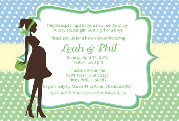 Printable Pregnant Woman Silhouette Baby Shower Invitation  $7 00