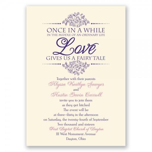 Fabulous Invitations For A Wedding Fairy Tale Wedding Invitations